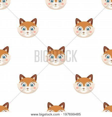 Fox muzzle icon in cartoon design isolated on white background. Animal muzzle symbol stock vector illustration.