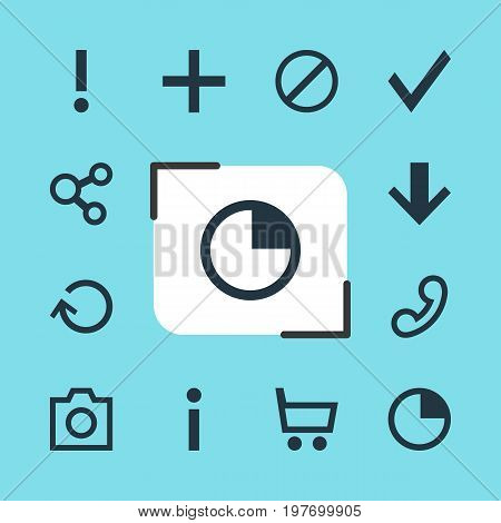 Editable Pack Of Publish, Plus, Downward And Other Elements.  Vector Illustration Of 12 Member Icons.