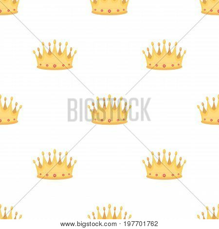 Golden crown with diamonds the winner of the beauty contest.Awards and trophies single icon in cartoon style vector symbol stock web illustration.