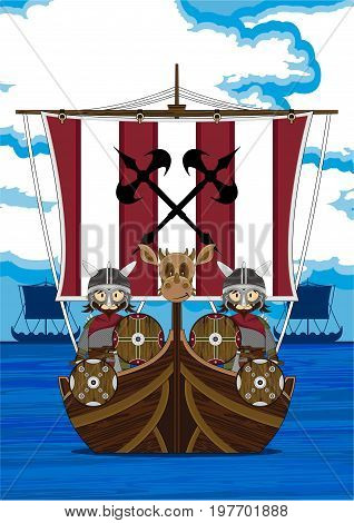 Viking Warriors On Ship