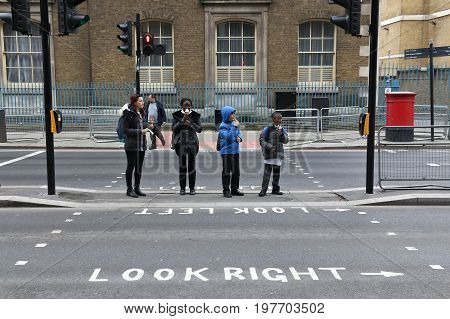 London Pedestrian Crossing