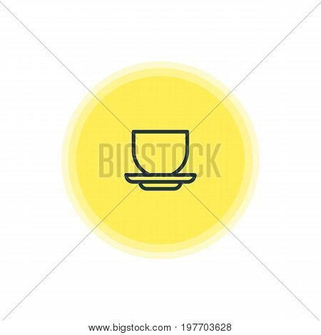Beautiful Cooking Element Also Can Be Used As Coffee Cup Element.  Vector Illustration Of Mug Icon.