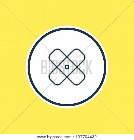 Beautiful Necessity Element Also Can Be Used As Adhesive Element.  Vector Illustration Of Plaster Outline.