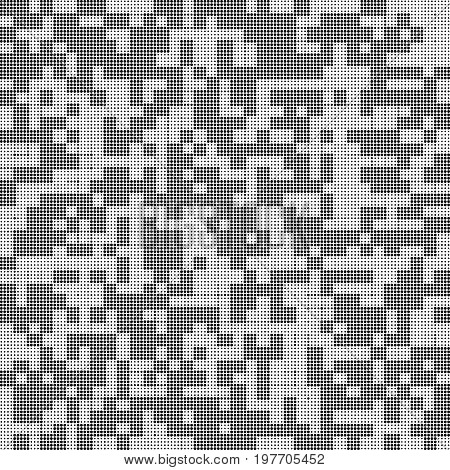 black dots of different sizes. circles abstract. white background. halftone effect. monochrome texture. vector illustration