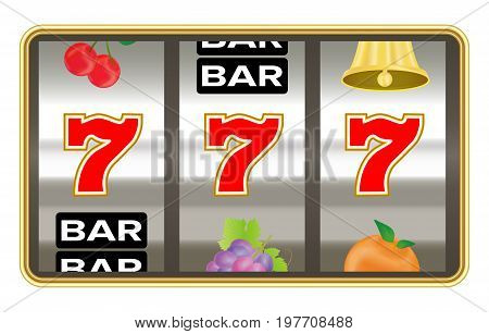 slot machine with lucky seven number jackpot