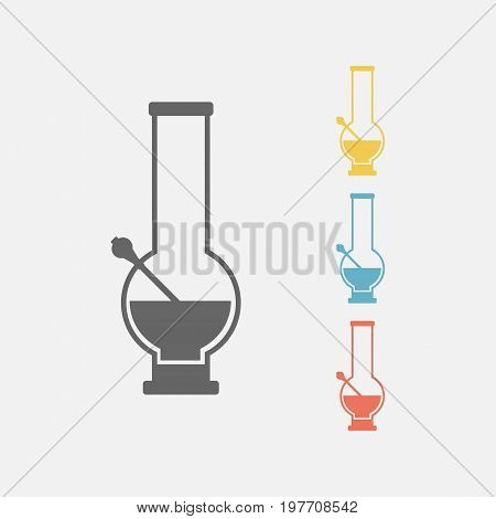 Bong for smoking icon. Vector sign for web graphics.
