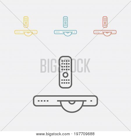 DVD player line icon Vector sign for web graphics.