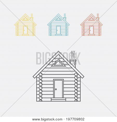 Log house icon Vector sign for web graphics.