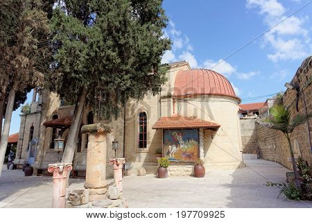 Nazareth Israel. - February 17.2017 Greek Orthodox Church of the First Miracle