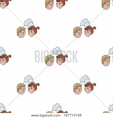 Brainstorming icon in cartoon design isolated on white background. Conference and negetiations symbol stock vector illustration.