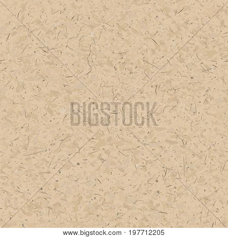 Brown recycled cardboard rough texture, vector background
