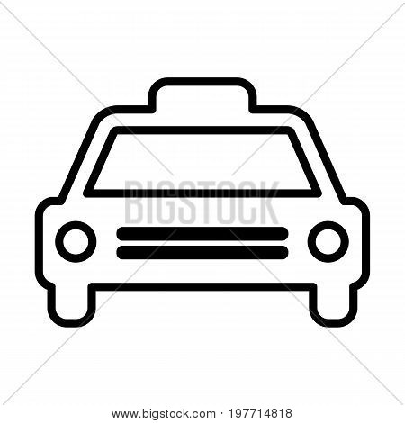 Taxi line icon. Cab outline sign. Vector pictogram in linear style