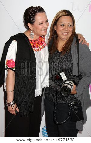 LOS ANGELES - JAN 18:  Actress Adriana Barraza , and photographer Adriana M. Barraza  arrives at