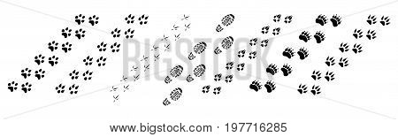 Animal Footprints Vector