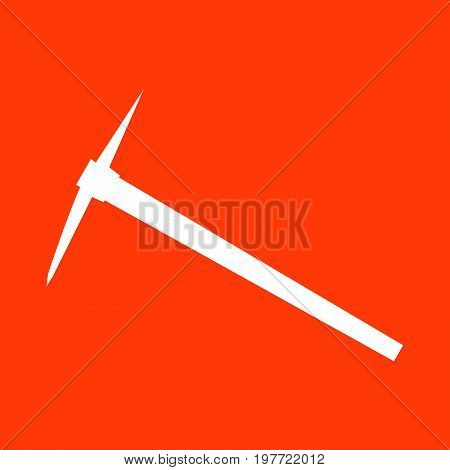 Pickaxe it is white color  icon .
