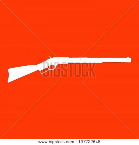 Rifle it is white  color  icon .