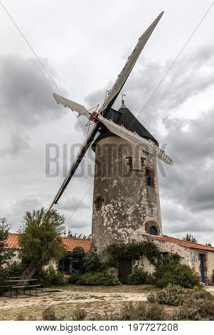 The old Mill of Raire in Sallertaine (France)