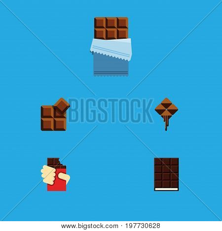 Flat Icon Bitter Set Of Cocoa, Bitter, Shaped Box And Other Vector Objects