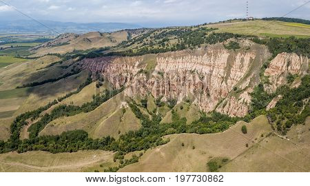 Rapa Rosie, protected area and a natural monument, a geological and botanical reserve in Romania