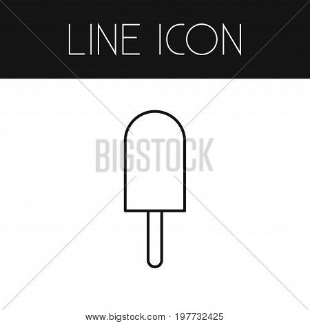 Ice Cream Vector Element Can Be Used For Sundae, Ice, Cream Design Concept.  Isolated Sundae Outline.