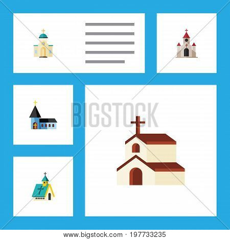 Flat Icon Christian Set Of Religious, Religion, Christian And Other Vector Objects