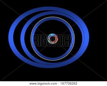 Eye. The eye sees everything colorfully. eye isolated
