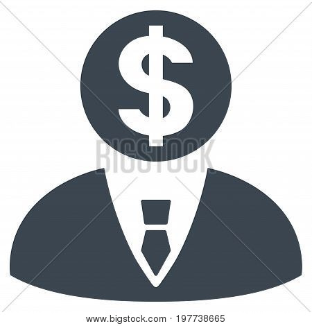 Banker vector icon. Flat smooth blue symbol. Pictogram is isolated on a white background. Designed for web and software interfaces.