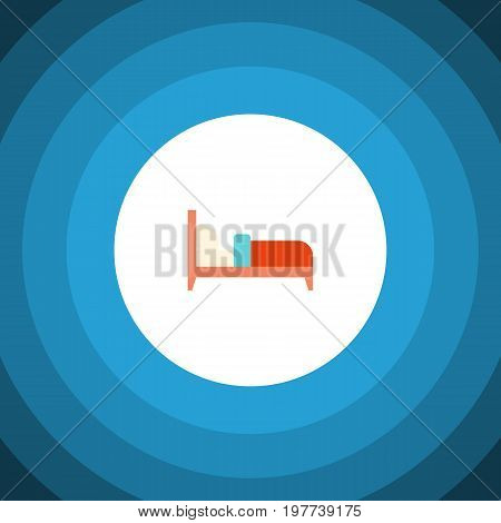 Bearings Vector Element Can Be Used For Mattress, Bed, Bearings Design Concept.  Isolated Bed Flat Icon.