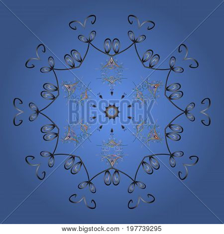 New Year sign. Icon silhouette. Vector illustration. Snowflake winter isolated on colorful background. For Christmas design. Symbol of celebration.