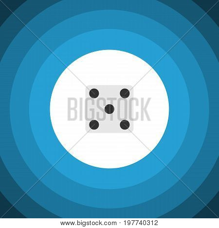 Backgammon Vector Element Can Be Used For Gambling, Dice, Backgammon Design Concept.  Isolated Dice Flat Icon.