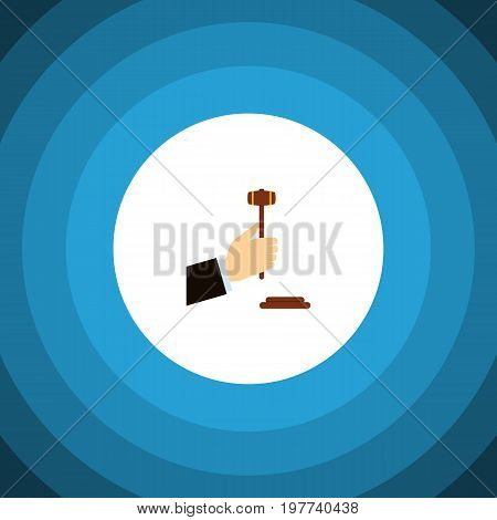 Law Vector Element Can Be Used For Law, Legal, Hammer Design Concept.  Isolated Legal Flat Icon.