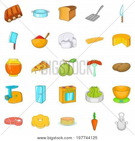Filling for buns icons set. Cartoon set of 25 filling for buns vector icons for web isolated on white background
