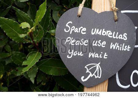 Slate Heart Shaped Sign Saying