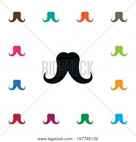 Mustache Vector Element Can Be Used For Mustache, Goatee, Stylish Design Concept.  Isolated Grooming Icon.