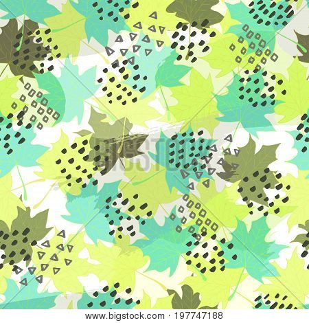 Abstract autumn seamless pattern. Perfect for wallpapers, web page backgrounds, surface textures, textile