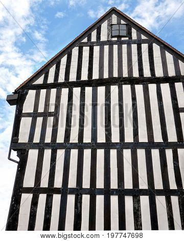 High Traditional Tudor Timber Framed Wattle And Daub House Wall