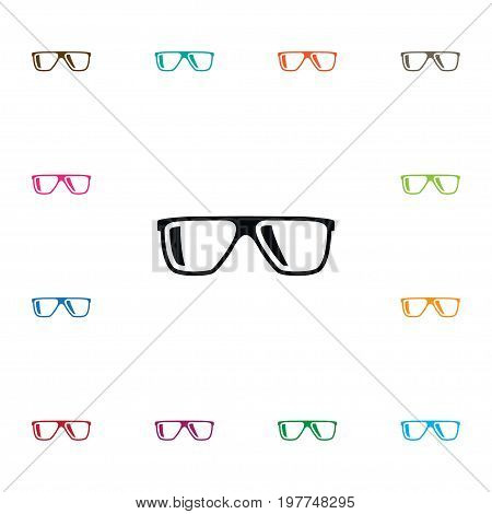Eyeglasses Vector Element Can Be Used For Eyeglasses, Spectacles, Sunglasses Design Concept.  Isolated Geek Icon.