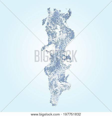 water splash shape. Abstract 3d rendering illustration
