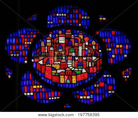 Stained Glass In Worms - New Jerusalem