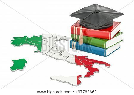 Education in Italy concept 3D rendering isolated on white background