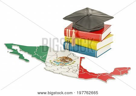 Education in Mexico concept 3D rendering isolated on white background
