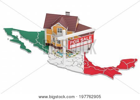 Property for sale and rent in Mexico concept 3D rendering
