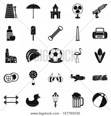 Play icons set. Simple set of 25 play vector icons for web isolated on white background