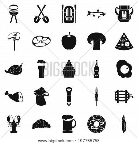 Ready meat icons set. Simple set of 25 ready meat vector icons for web isolated on white background