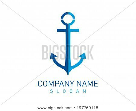 anchor vector design on a white background