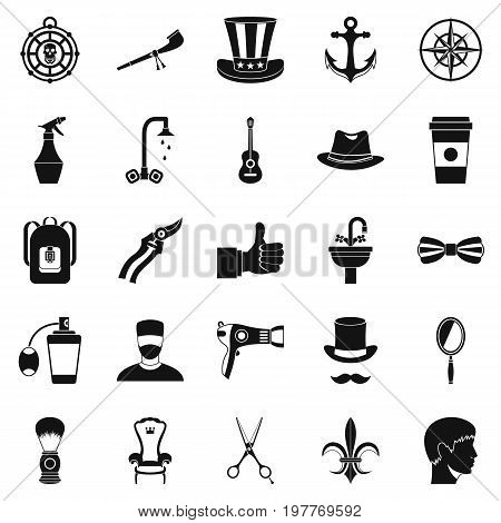 Coffee house icons set. Simple set of 25 coffee house vector icons for web isolated on white background