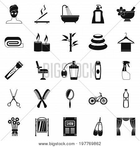 Secular reception icons set. Simple set of 25 secular reception vector icons for web isolated on white background
