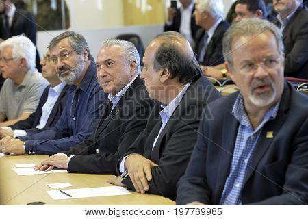 President Of The Republic Michel Temer