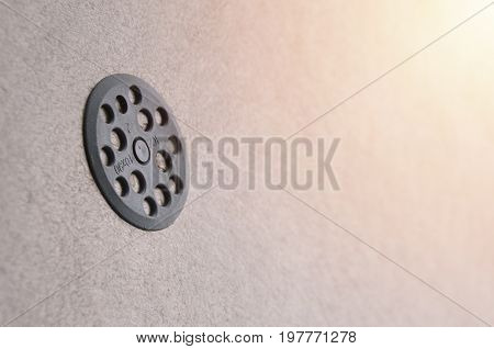 The Texture Of The Wall, Covered With Gray Foam Polystyrene Plates, Which Are Reinforced With Plasti