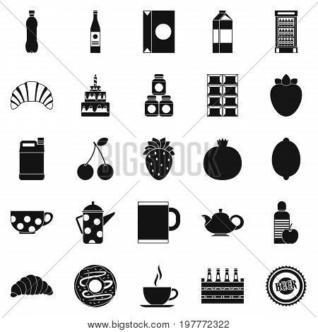 Ale icons set. Simple set of 25 ale vector icons for web isolated on white background